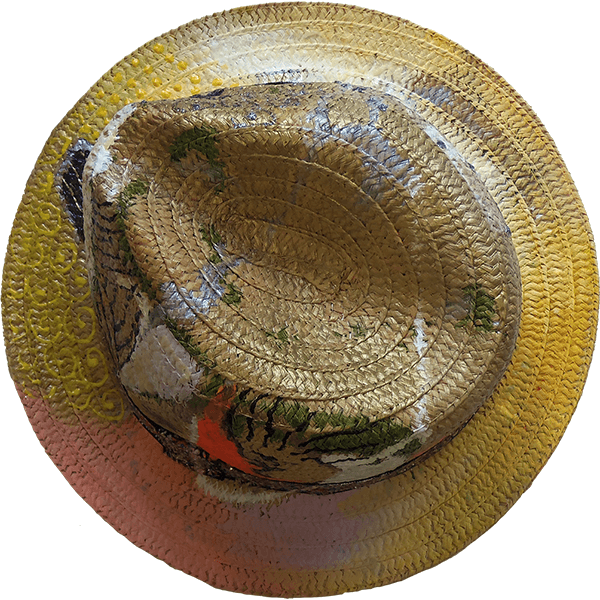 Hand-painted hat by Philippe Valy - number 7